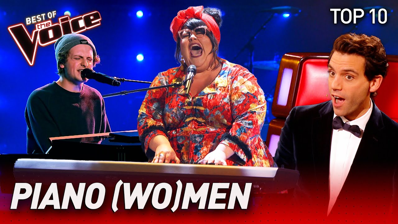 The best PIANO Blind Auditions on The Voice | Top 10