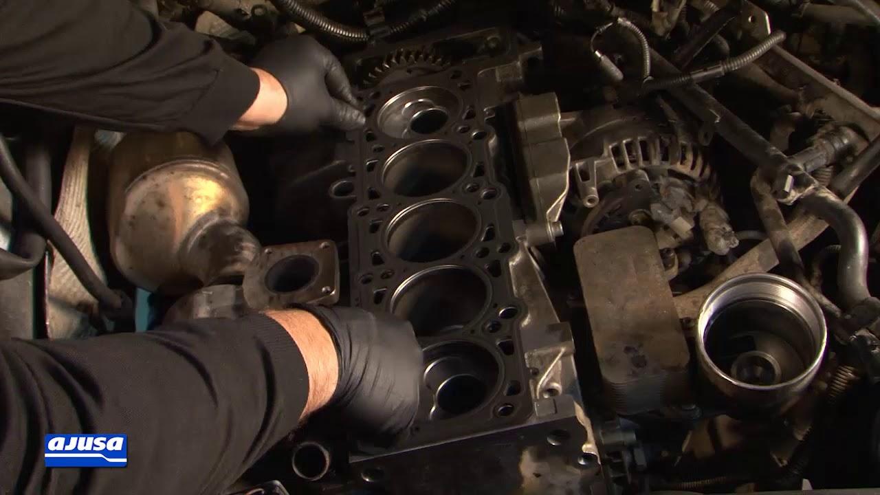 hight resolution of volkswagen touareg 2 5 tdi bac cylinder head gasket assembly montaje junta culata