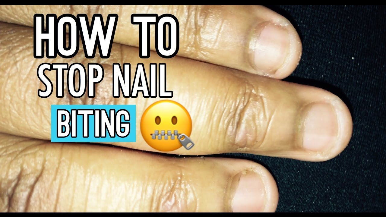 how to break bad habit of biting nails