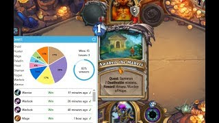 [Hearthstone] Boomsday Quest-Priests 83% win-rate to rank 15. Last game vs Quest Warrior.