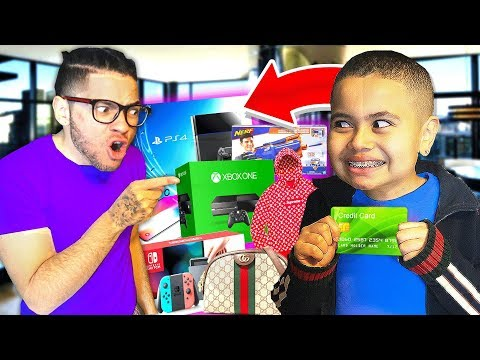 Kid spends $10,000 on Brothers Credit Card! **insane shopping spree**