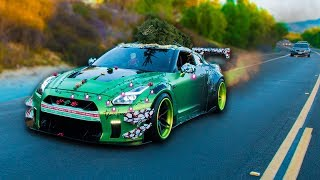 TURNING A GTR INTO CHRISTMAS TREE! *TRANSFORMATION*
