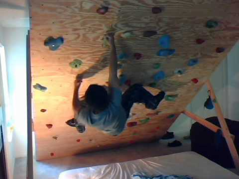 Climbing The Apartment Bouldering Wall