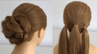 Easy Hairstyle long hair for party or wedding, Hairstyles for girls