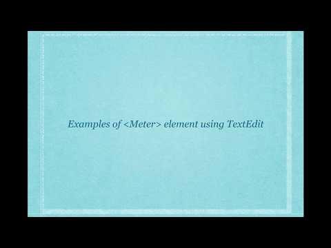 Meter Element - HTML 5