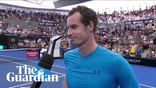 Andy Murray after emotional win: 'I don't know how much longer I'll be playing'