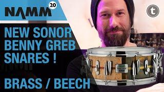 Benny Greb NAMM 2020 | New Sonor Signature Beech & Brass Snares | Thomann