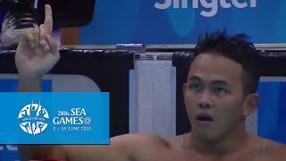 Swimming Men 50m Breaststroke Finals (Day 6) | 28th SEA Games Singapore 2015