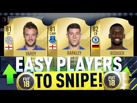THE BEST PLAYERS TO SNIPE ON FIFA 18! FIFA 18 LIVE SNIPING! 1000 COINS PROFIT PER CARD!