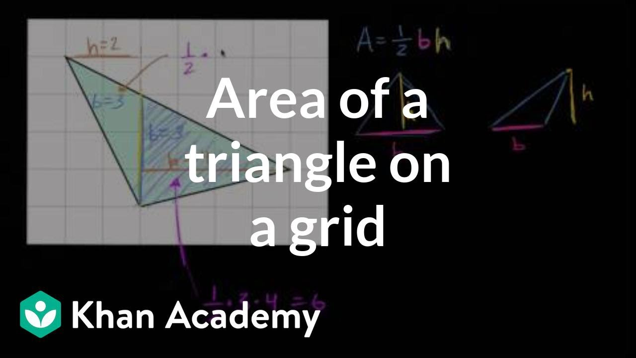 hight resolution of Area of a triangle on a grid (video)   Khan Academy