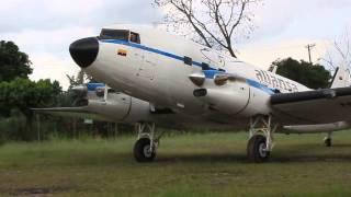 Aliansa Turbine DC-3 engine start up