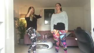 Fie og Mette danser