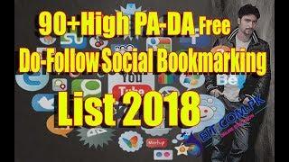 90+High PA-DA Free Do-Follow Social Bookmarking Sites List 2018 |EIT