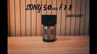 SONY E50mm F1.8 oss lens 언박싱/여…