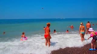 """Где купаются местные жители Лазаревского? """"Свирский"""" пляж"""