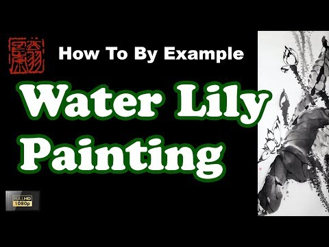 Chinese Water Lily Painting Using Watercolor By Example – Chinese Brush Painting