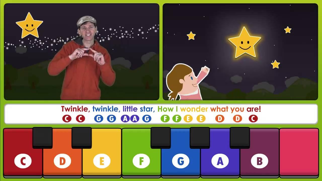 Twinkle twinkle little star learn to play on a keyboard youtube hexwebz Choice Image