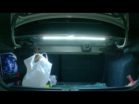 Как улучшить освещение в багажнике?