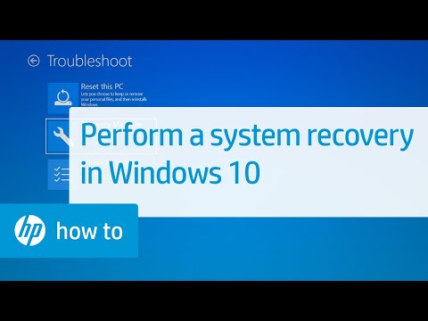 How To Perform an HP System Recovery in Windows 10 | HP Computers