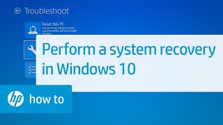 How To Perform an HP System Recovery in Windows 10 | HP Computers | HP