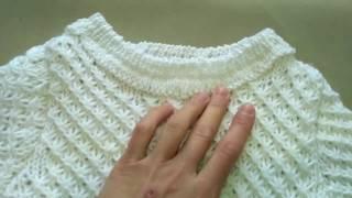 Вязание свитера спицами. Подробное описание.