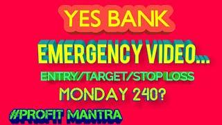 YES BANK...EMERGENCY VIDEO...MONDAY 240 LEVEL?...GAP DOWN? thumbnail