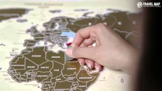 udivivseh.com | Скретч карта мира Travel Map Gold NEW(Скретч карту мира Travel Map можно назвать персональным дневником путешественника. Красочная карта мира, скрыт..., 2014-11-14T13:01:23.000Z)