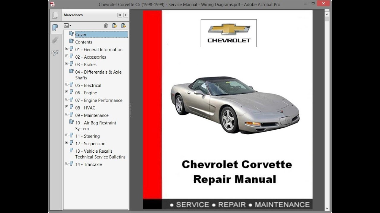 1999 corvette wiring diagram chevrolet corvette c5  1998 1999  service manual repair manual  chevrolet corvette c5  1998 1999