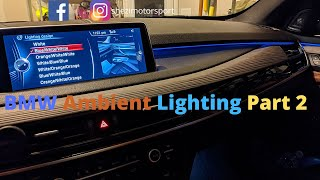 BMW Ambient Light Coding Part 2 for F15/F16 using bimmercode