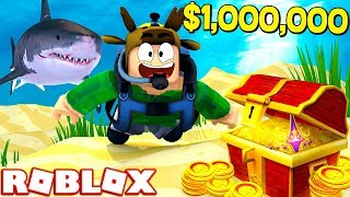 ROBLOX SCUBA DIVING SIMULATOR! (FINDING $1,000,000 IN BURRIED TREASURE!)