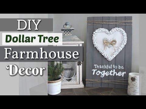 DIY Dollar Tree Farmhouse Wall Decor | Dollar Tree Valentines Day Decor 2019 | Krafts by Katelyn