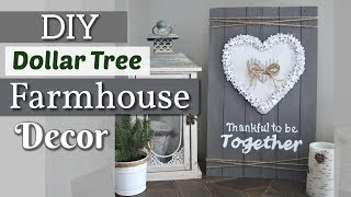 DIY Dollar Tree Farmhouse Wall Decor | Dollar Tree Valentines Day Decor 2019 | Krafts by Katelyn