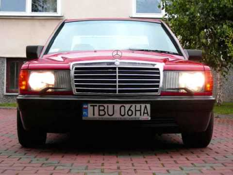 Headlamps wipers mercedes benz w201 190 87 39 youtube for Mercedes benz 190e headlights