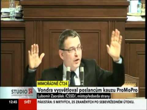 Lubomír Zaorálek: Vystoupení A.Vondry znělo falešně!