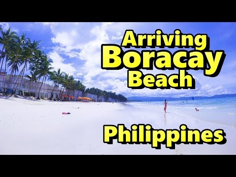 Arriving Boracay Beach Philippines and Taxi to Hotel
