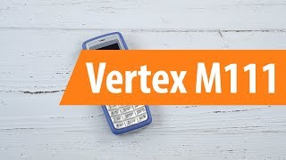 распаковка сотового телефона Vertex M111 / Unboxing Vertex M111