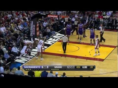 Udonis Haslem surprising put-back dunk