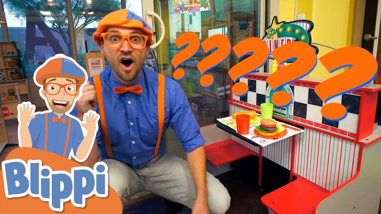 Blippi Learns About Jobs At An Indoor Playground!   Educational Videos For Kids