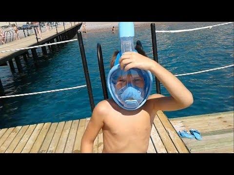 Подводная маска для плавания FreeBreath. Тест - Отзыв. Турция.