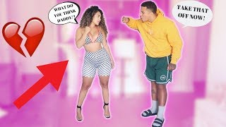 I WORE A SCANDALOUS OUTFIT TO SEE HOW MY BOYFRIEND REACTS!! ** HE WAS NOT HAPPY! **
