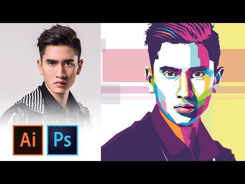 WPAP Tutorial - IllUSTRATOR/PHOTOSHOP thumbnail