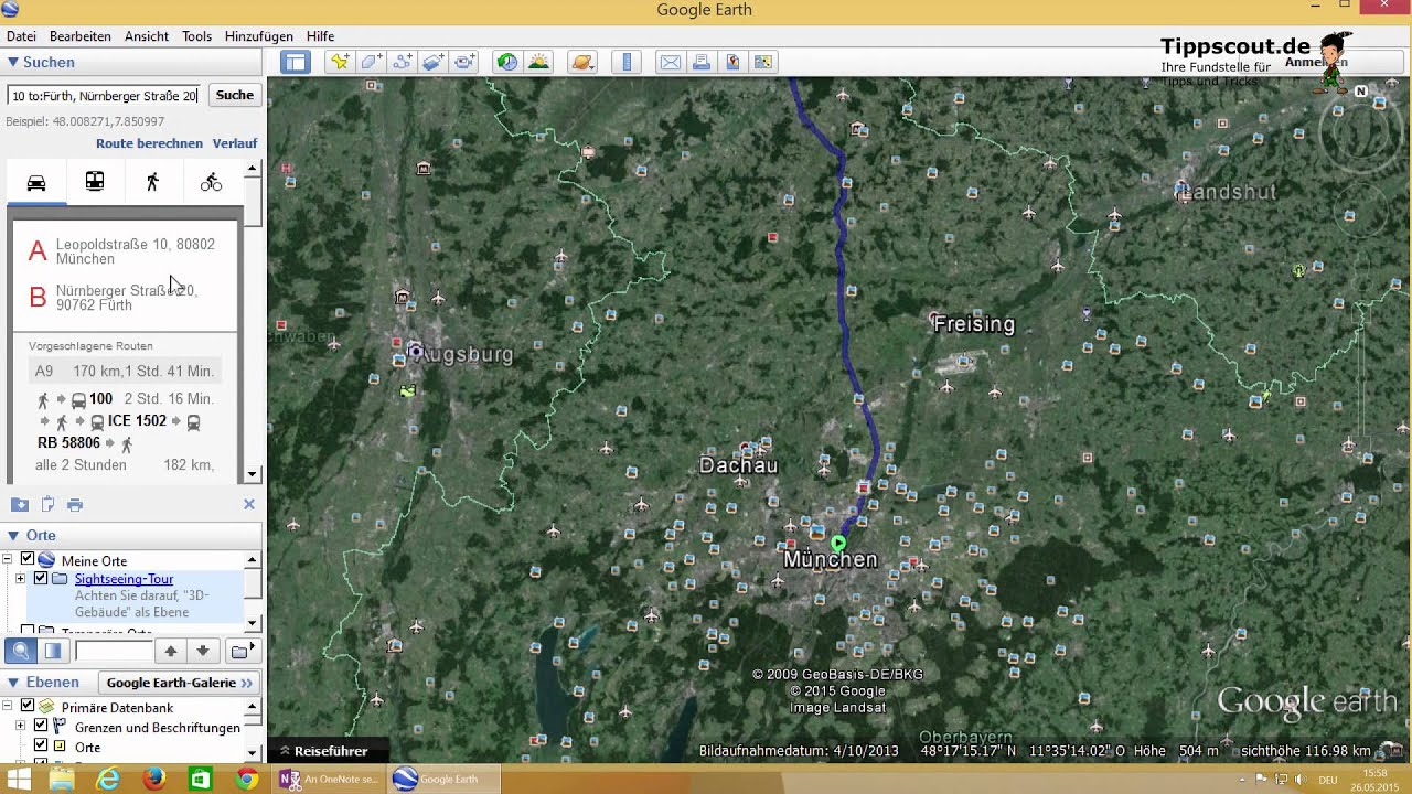Route Planen in Google Earth   YouTube Route Planen in Google Earth