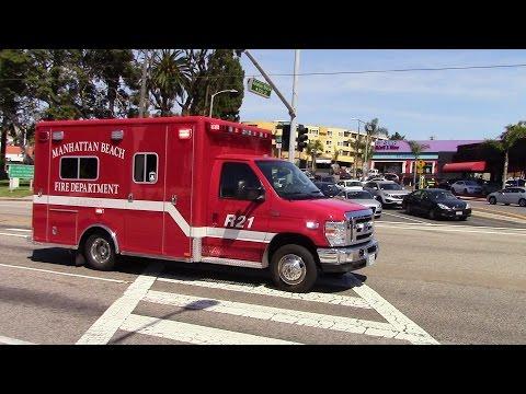 Manhattan Beach Fire Dept. Rescue 21 Transporting
