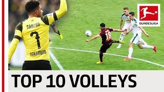 Top 10 Volley Goals in 2018/19 - Lewandowski, Jovic, Sancho & Co.