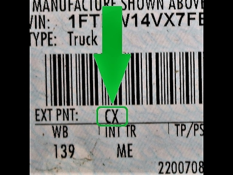 How To Find Your Ford Paint Code