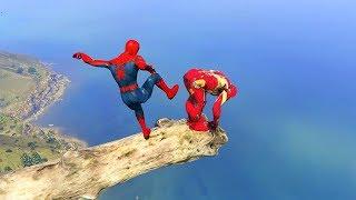 GTA 5 Water Ragdolls Spiderman Vs Iron Man Jumper-Falls (Euphoria Physics Ragdolls Fails Funny)