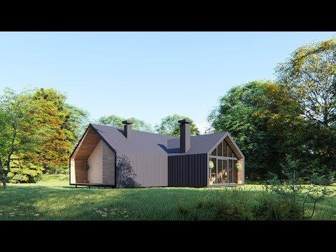Проект дома в Амбарном стиле
