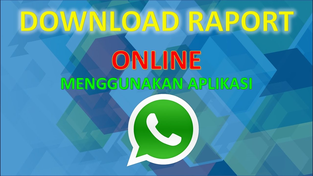 TUTORIAL DOWNLOAD RAPORT ONLINE (SISWA) - YouTube