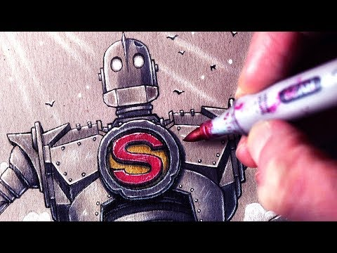 how to draw iron giant
