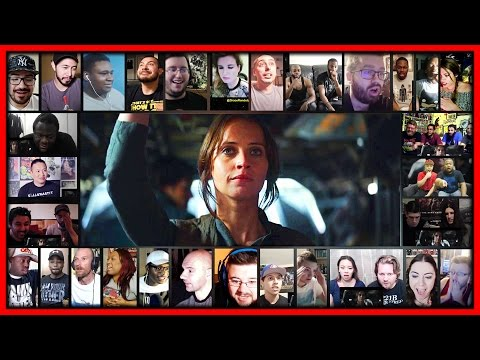 ROGUE ONE: A Star Wars Story Trailer Reactions Mashup